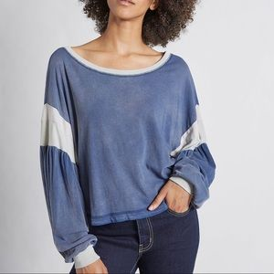 Current/Elliot The Two Step Colorblocked Top Size0